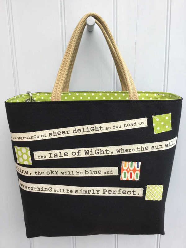 Shipping Forecast Bag Black by Dr Bean's Bags
