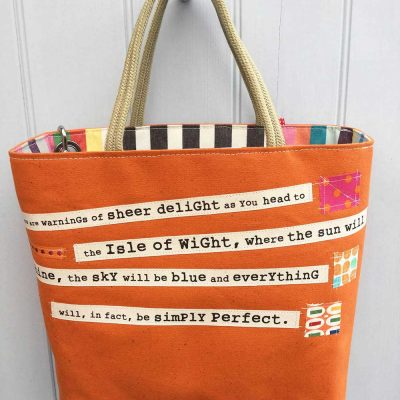Shipping Forecast Bag Orange by Dr Bean's Bags