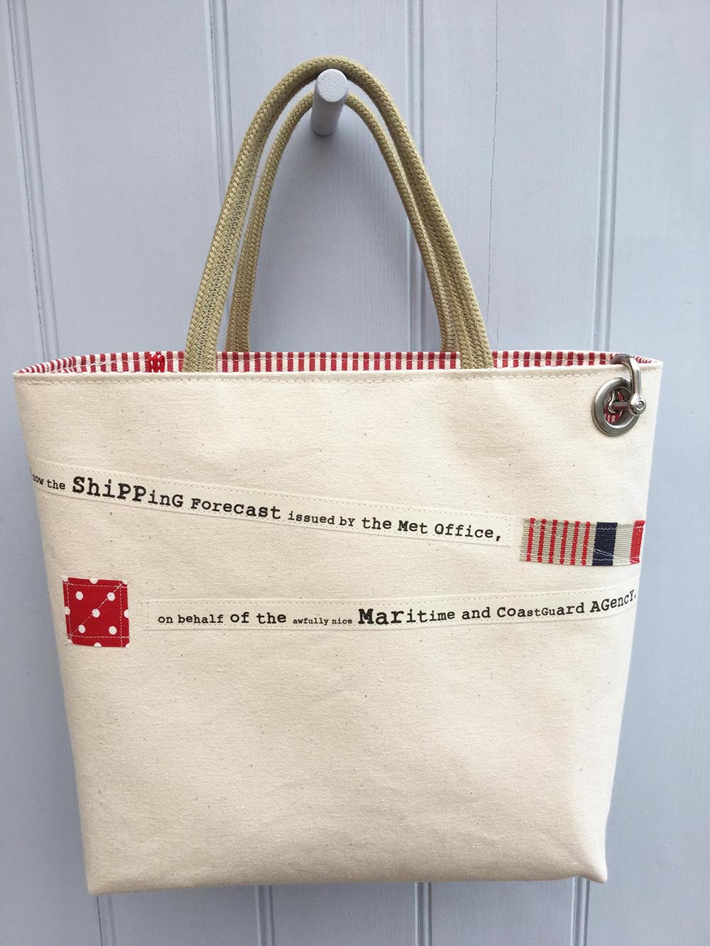 Shipping Forecast Bag Natural Red Dr Bean S Bags