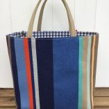 Canvas blue stripe 2