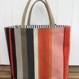 Canvas orangeblack stripe 2