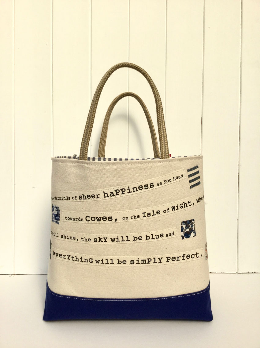 Shipping Forecast Bag Natural Blue Dr Bean S Bags