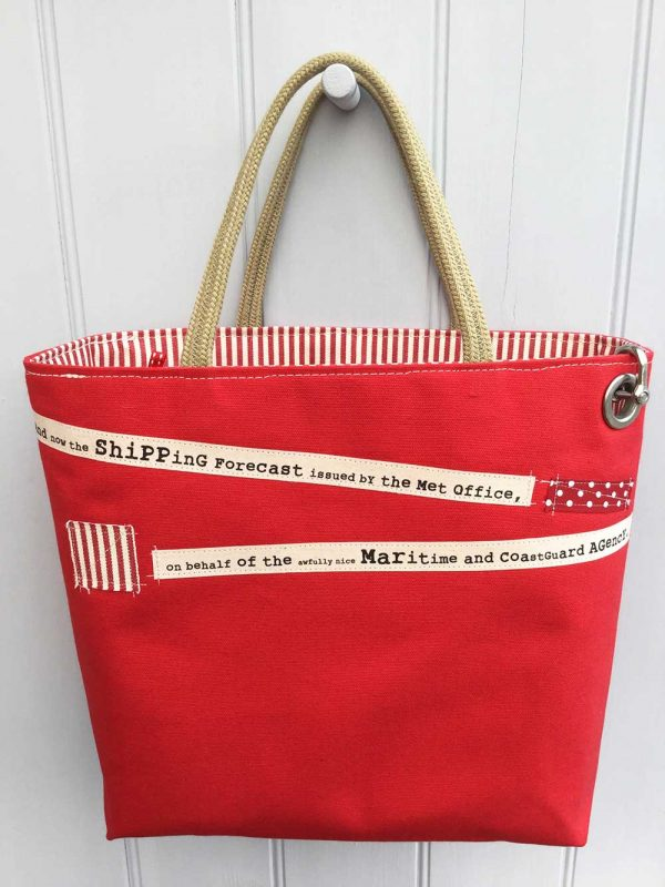 Shipping Forecast Bag Red by Dr Bean's Bags